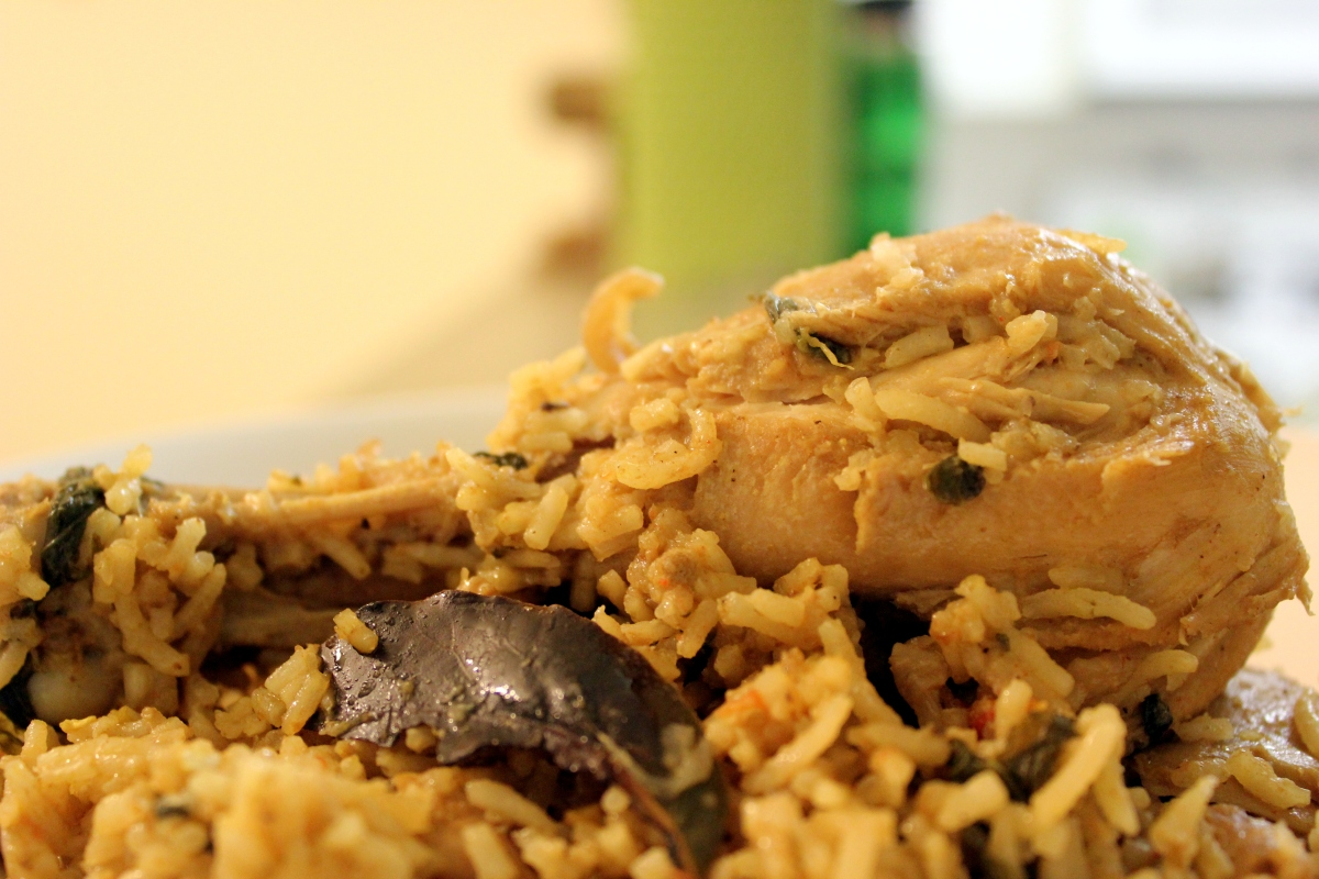 Chicken Biryani / Slow cooked Rice with Chicken and Indian spices