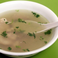 Clear Chicken Soup with Ginger