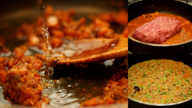 kheema-matar-masala-in-the-making