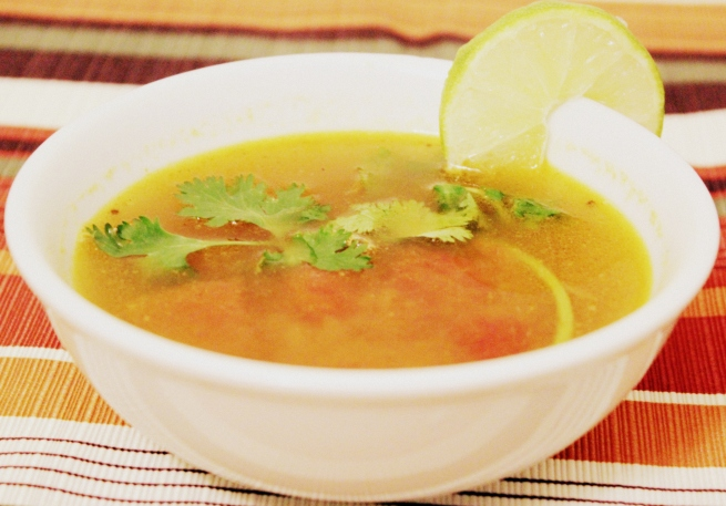 Andhra style lemon rasam
