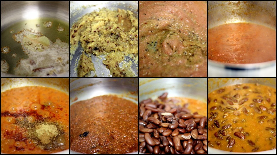 rajma masala - step by step recipe