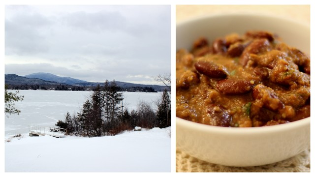 moosehead lake, ME and rajma chawal