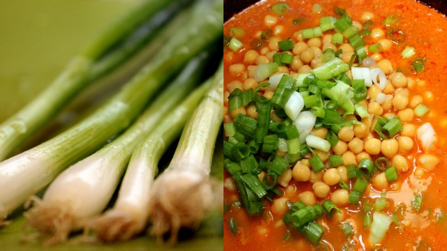 chickpea soup with green onions