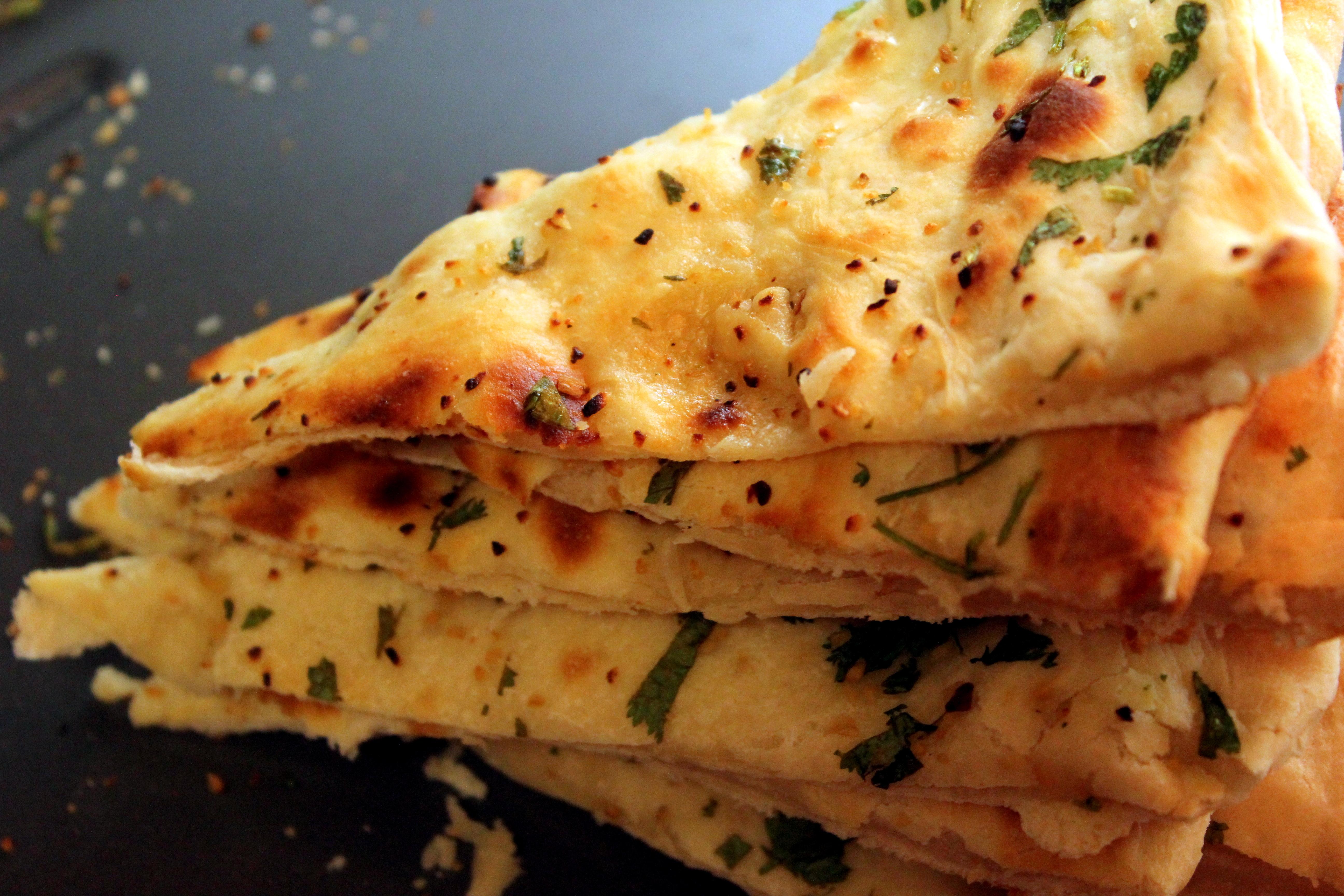 ... credit vikas khanna garlic cilantro naan garlic cilantro and green