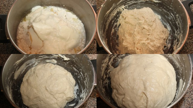 preparing naan dough
