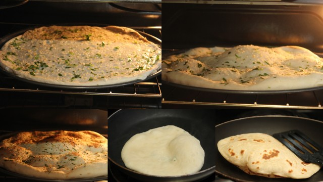 baking naan - step by step