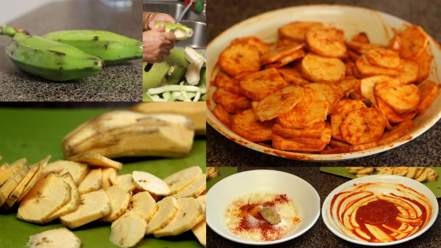 vazhakkaivaruval_green_plantain_fry_step_by_step_prep