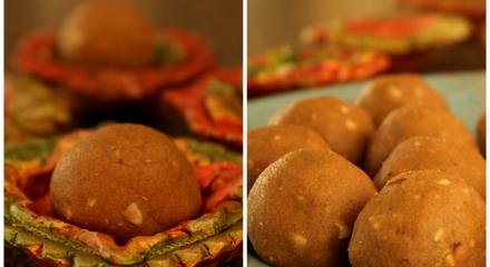 Diwali sweet   Atta Laddu   Wheat Flour laddoos for Diwali