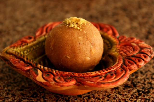 Atta Laddu with Pistachios