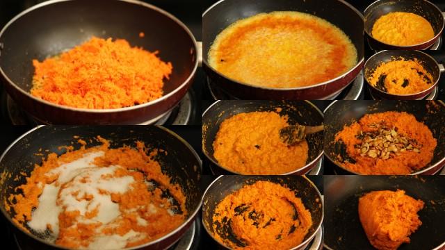 Gajar ka Halwa / Carrot Halwa recipe - step by step pictures, by ...