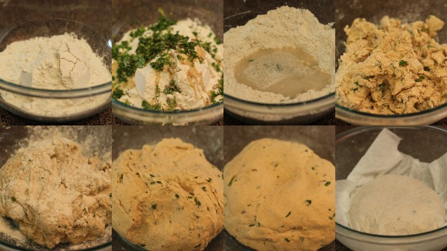 Prepare the dough for laccha parathas