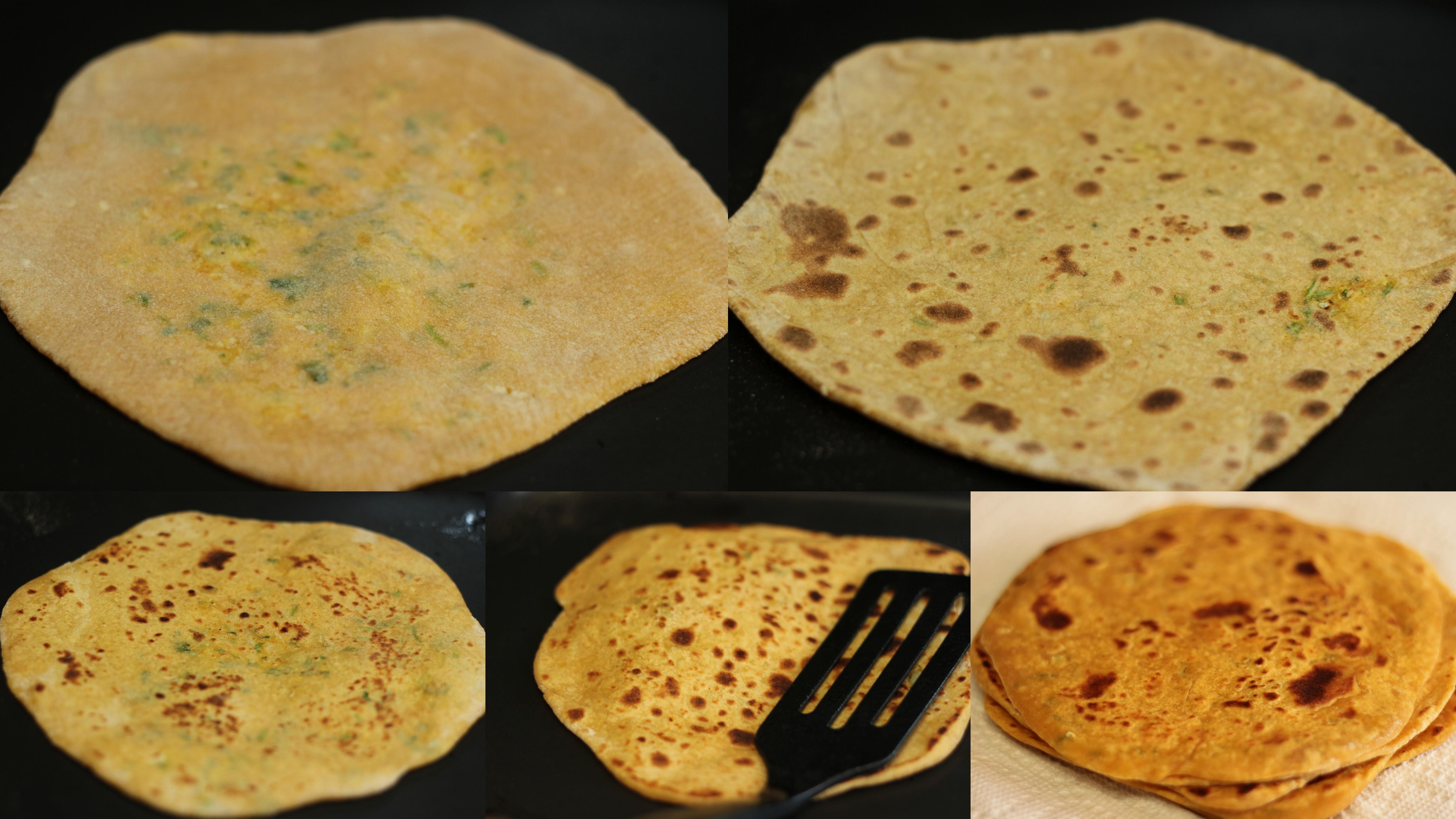 mooli-paratha-step-by-step-recipe-cooking-paratha | Aish Cooks