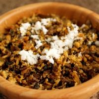 Mushroom (Koon) Mutta  Thoran | Kerala Style Mushroom-Egg Stir Fry