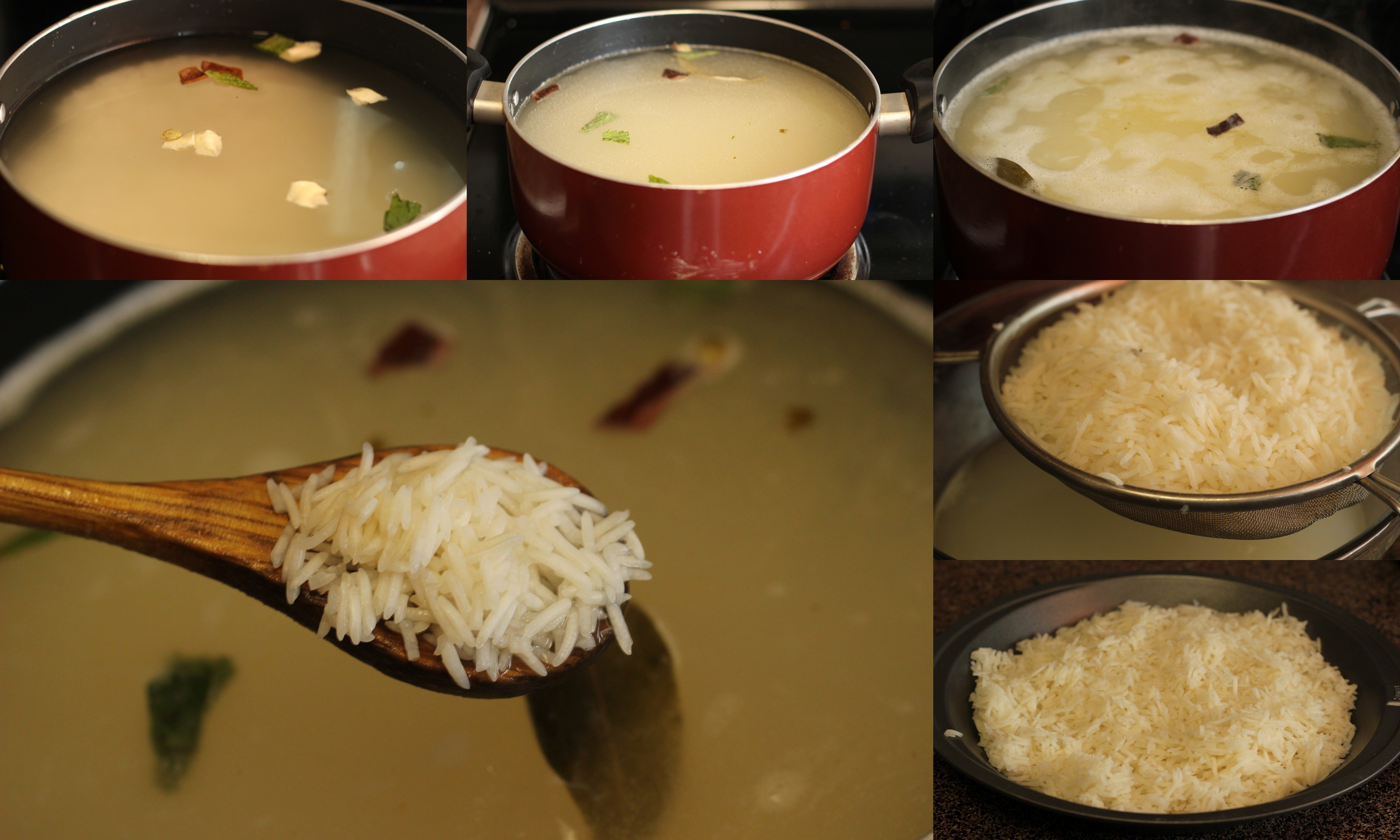 How To Cook Rice Pictures Solution For How To For Dummies  Chickenbiryanistepbysteppicturesmakingrice Chicken Biryani, Layered