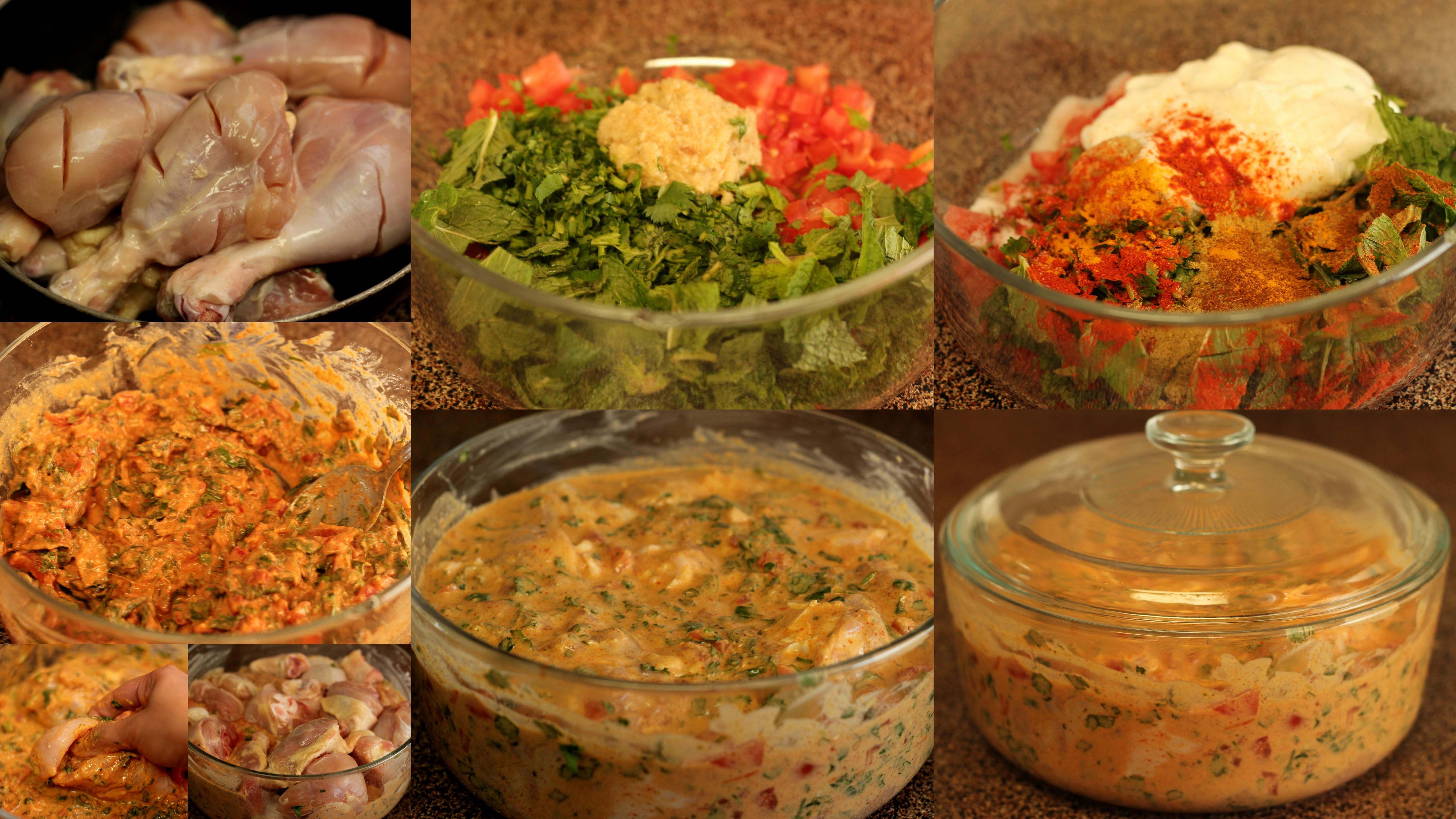 Chicken Biryani Step By Pictures Preparing Marinade