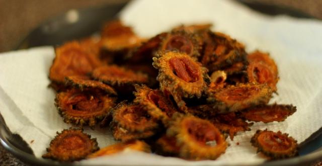 fried-bitter-gourd-pavakkai-karela-fry