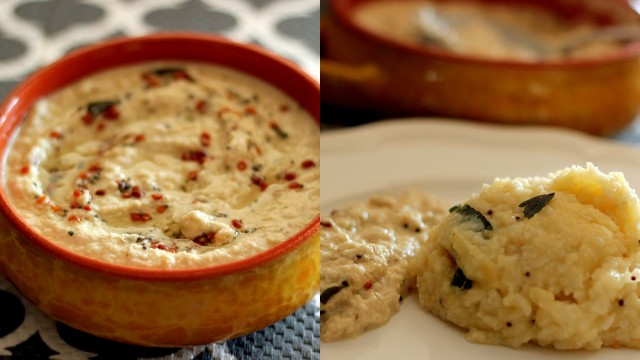 coconut-chutney-with-venn-pongal