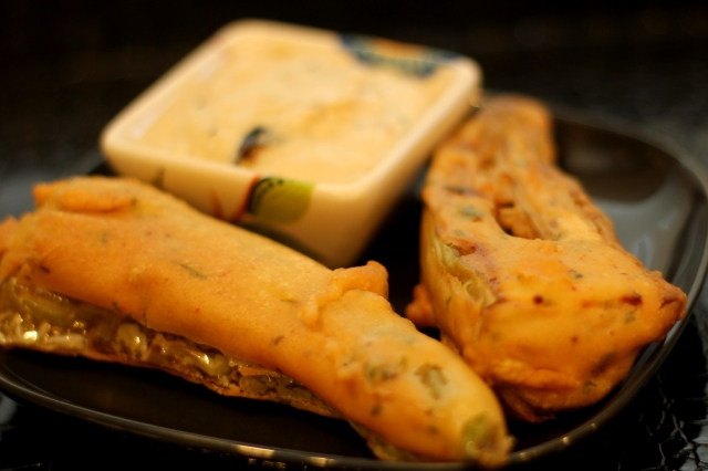 Milagai Mirchi Bajji Vegetable Fritters Aish Cooks