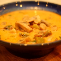 Mushrooms In Coconut Milk Curry