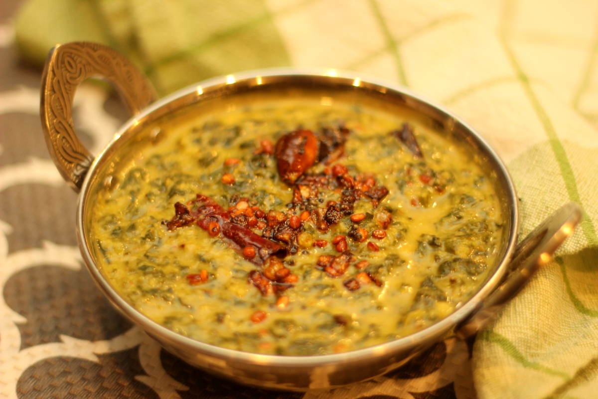 Keerai Kootu   Spinach and Lentils Curry with Coconut