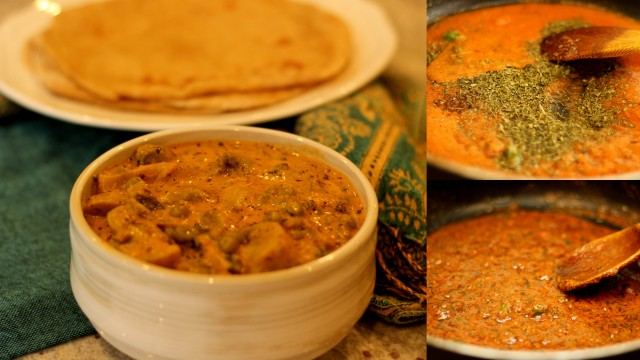 matar-khumb-masala-with-roti