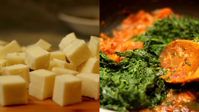 Saag-paneer-in-the-making
