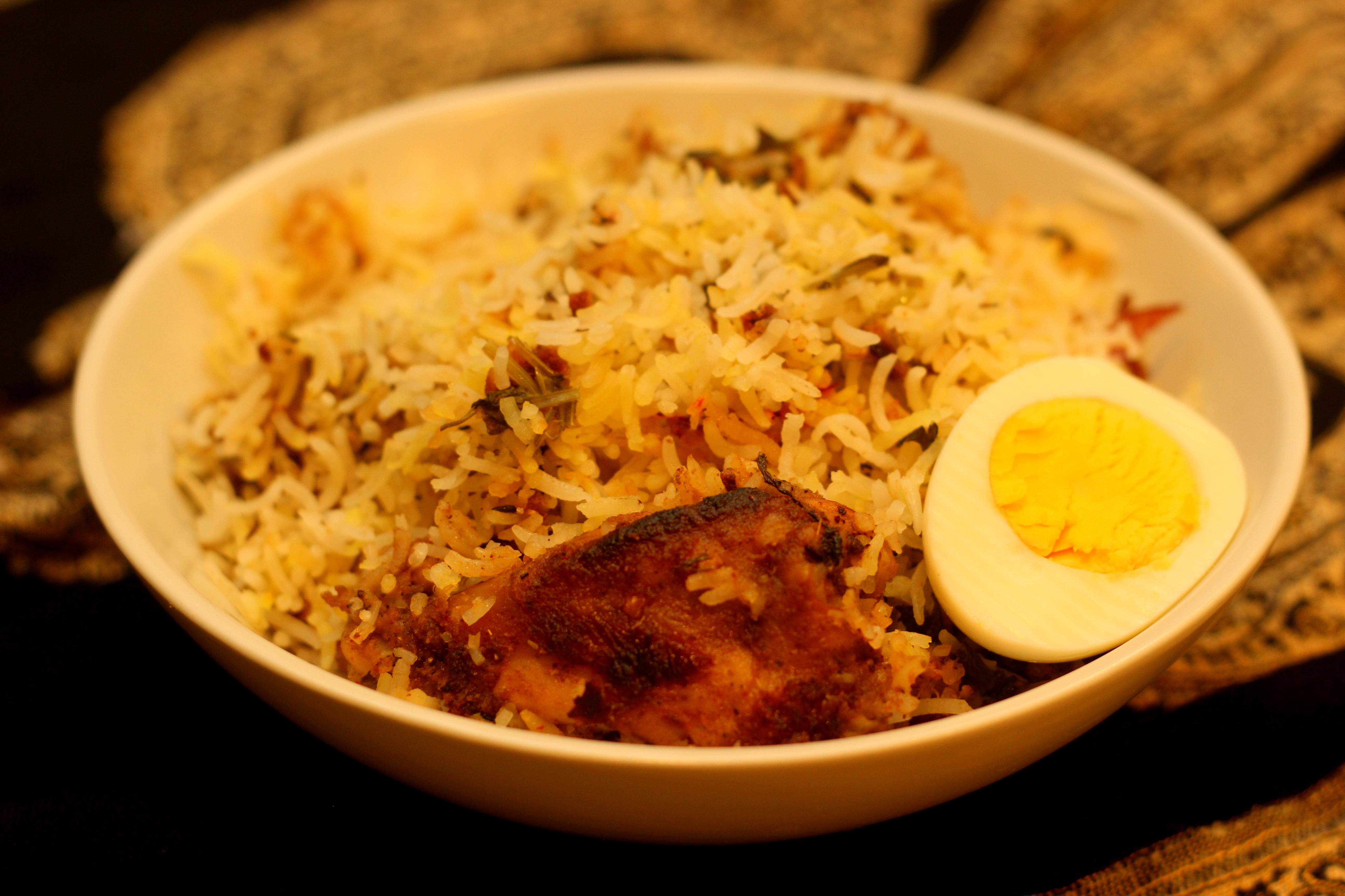 chicken biryani vah chef recipe garlic potatoes