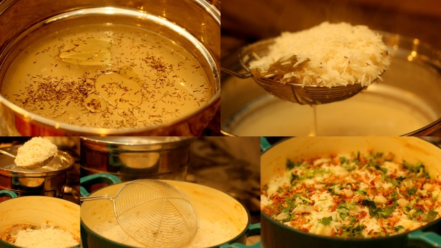 kachi-biryani-hyderabadi-style-step-by-step-picture-recipe (cook the rice and layer it)